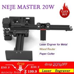 NEJE Master 20 Вт лазерный гравировальный станок с ЧПУ/лазерный гравер для металла/древесины маршрутизатор/резак бумаги/2 оси гравер/резки