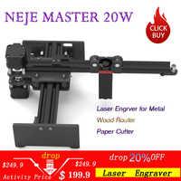 NEJE Master 20W CNC Machine de gravure Laser/graveur Laser pour métal/bois routeur/coupe-papier/2 axes graveur/découpeuse