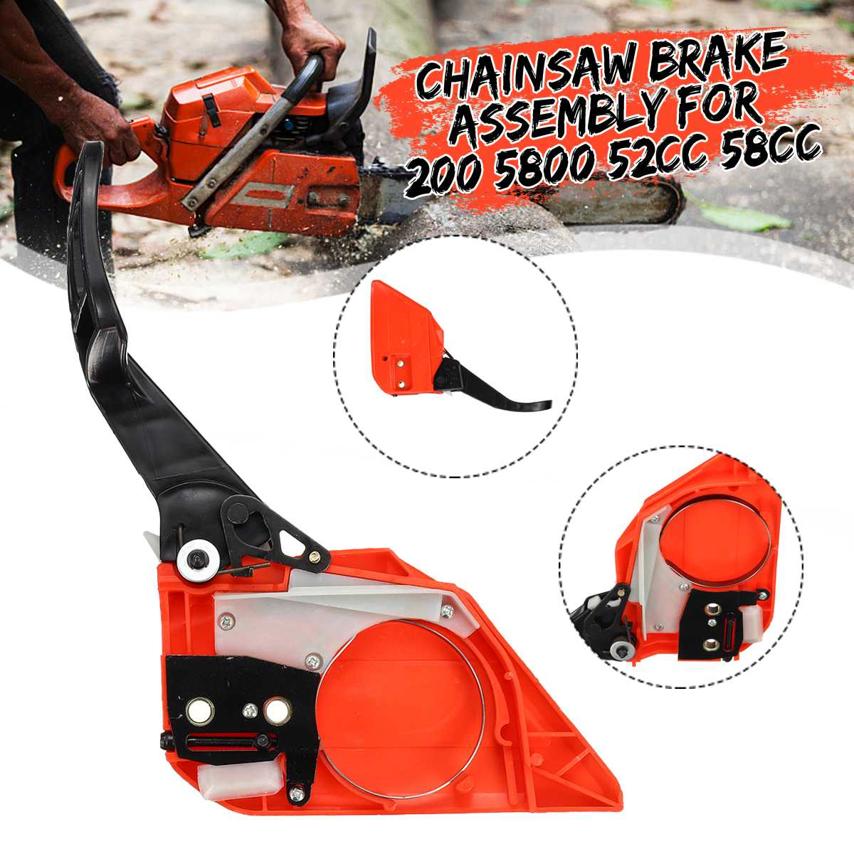 Brake Handle Clutch Sprocket Cover For Chinese Chainsaw 200 5800 52cc 58cc Durable And Reliable Brake Handle Sprocket Cover