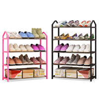 Baffect Multi layers Sheos Rack Large Capacity Plastic Metal Shoes Organizer Shoe Shelf Keep Home Tidy Space Saving