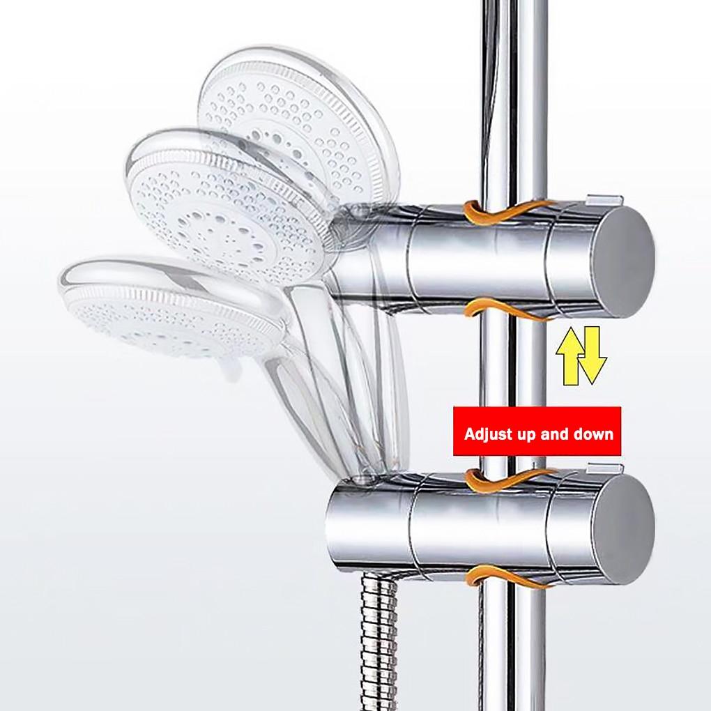 Adjustable Shower Head Holder Shower Rail Rod Slider Bracket Showerhead Clamp Bathroom Accessory