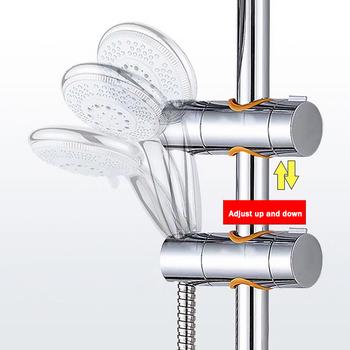 Regulowana słuchawka prysznicowa uchwyt prowadnica prysznicowa uchwyt suwakowy uchwyt prysznicowy akcesoria łazienkowe tanie i dobre opinie STAINLESS STEEL HA6086- Brak