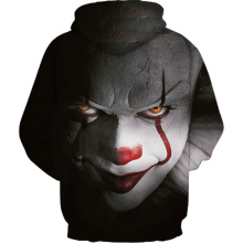 Horror Movie IT Clown 3D Printed Hoodie Sweatshirts Men Women Freddy Jason Film Pullover Annabelle Personality Oversized Hoodies