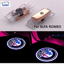 цены 2Pcs New fashion LED Car Door Welcome Light Logo Projector fit for Alfa Romeo Giulia Giulietta Mito Stelvio Brera 147 156 159