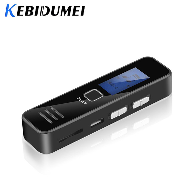 Kebidumei Digital Voice Recorder Recording MP3 Player 20 hour  Mini Voice Recorder Support 16GB TF Card Professional Dictaphone