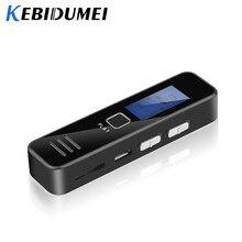 Kebidumei مسجل صوت رقمي تسجيل MP3 لاعب 20 ساعة مسجل صوت صغير دعم 16GB TF بطاقة المهنية الإملاء
