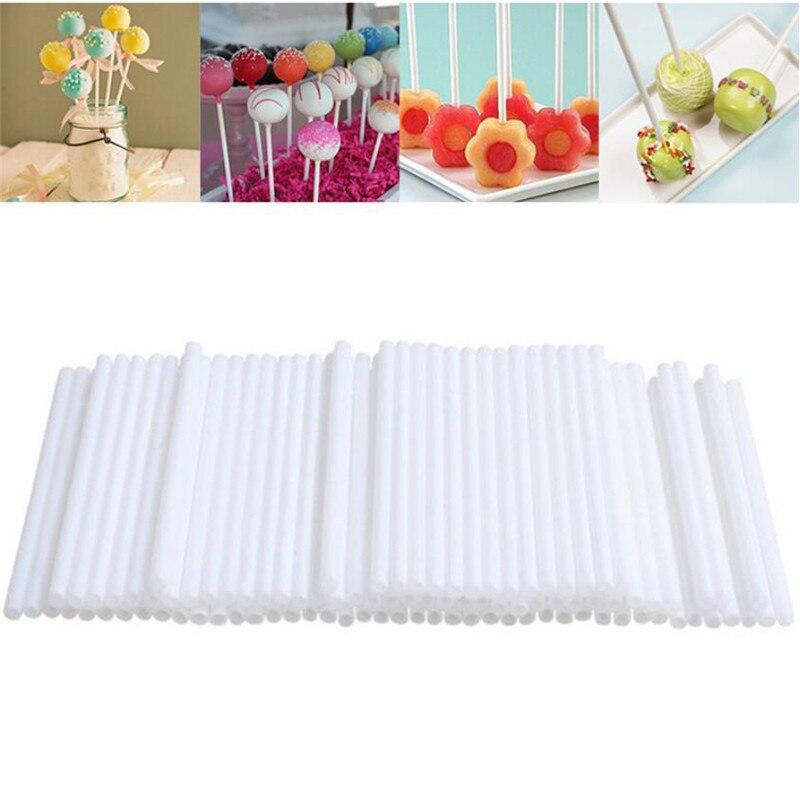 100Pcs Veilige Plastic Lollipop Stick Cake Sucker Sticks Voor Chocolade Suiker Candy Lollypop Diy Mold Tool Lolly Snoep Maken schimmel