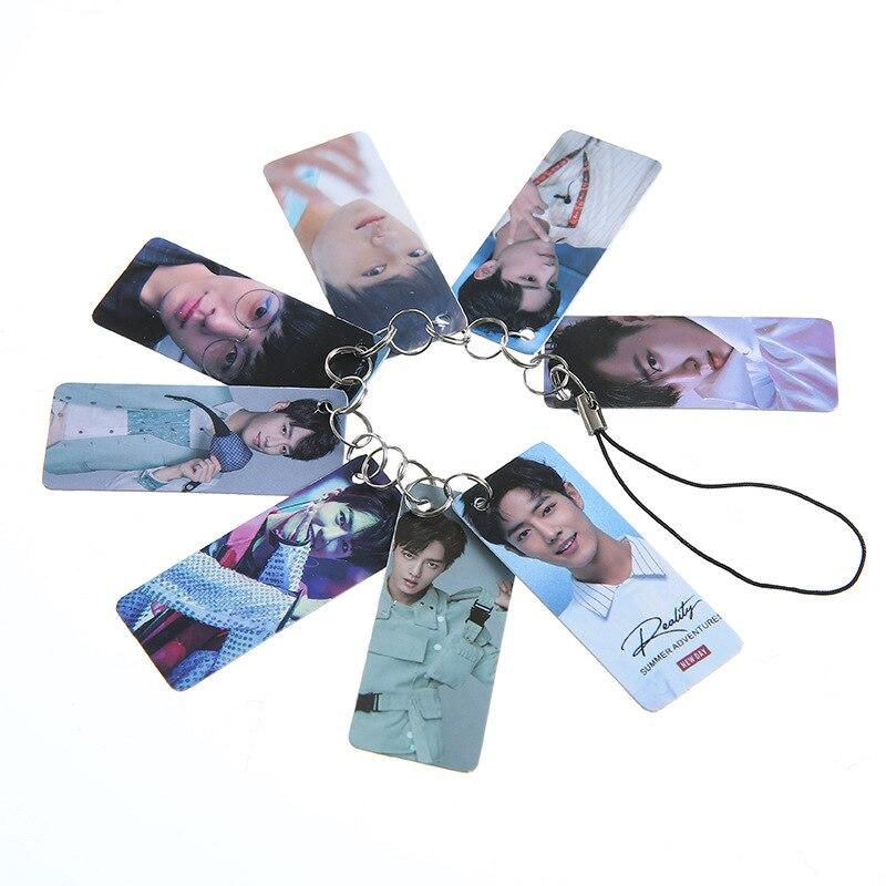 8Pcs/Set The Untamed Key Chain Chen Qing Ling Xiao Zhan Wang Yibo Character Keychain Phone Bag Pendant Fans Gift