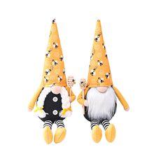 Noel yüzü olmayan bebek Bumble Bee çizgili Gnome İskandinav Tomte Nisse İsveç bal arısı Elfs ev Новогодняя Безликая Кукла