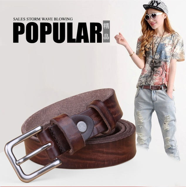 (RSA You Pay for Shipping) YR!Free shipping.Wholesales.classic vintage casual women belts.3.8mm thick genuine leather belt.fashion cowhide belt.sales
