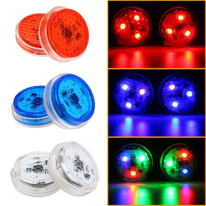 Wireless LED Car Door Opening Warning Light Safety Flash Signal Lamp Anti-collision 3 Color Waterproof DIY Warning Night Lantern