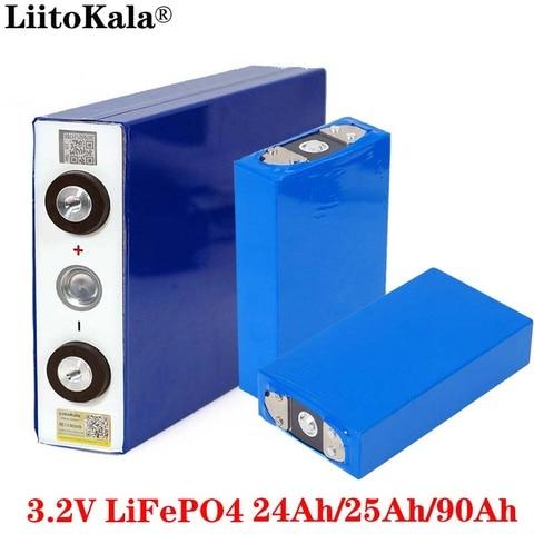 Ferro de Lítio Capacidade da Motocicleta Baterias do Motor Liitokala 90ah Bateria Lifepo4 Fósforo Grande Carro Elétrico 3.2 v 24ah 25ah