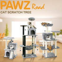 Pet Cat Tree Condo House Scratcher Scratching Post Climbing Tree Toys for Cat Kitten Protecting Furniture Fast Domestic Delivery