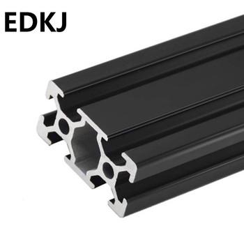 100-700mm dowolne wycinanie 2040 czarny profil aluminiowy europejski profil liniowy aluminiowy profil aluminiowy profil aluminiowy tanie i dobre opinie CN (pochodzenie)