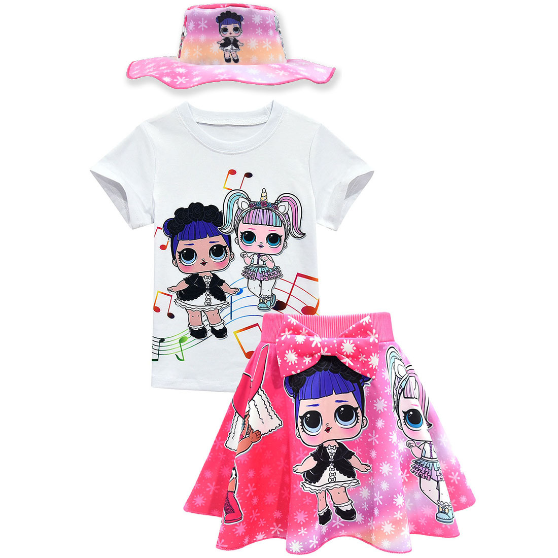 New lol surprise dolls Game Girls Dresses T-Shirts skirts Tops Costume party