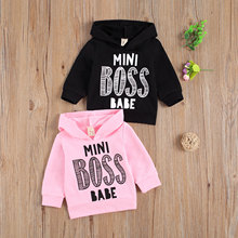 Outfits Sweatshirt/hoodie BABE BOSS Long-Sleeve Baby-Girl Toddler Boy Letter Print Autumn