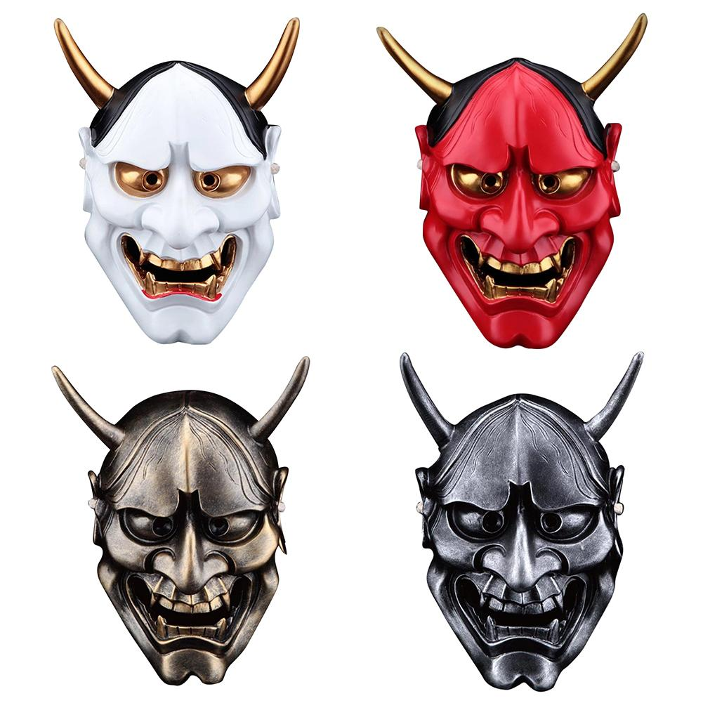 Japanese Prajna Hannya Mask Noh Kabuki Devil Demon Oni Samurai Helmet Wall Decor