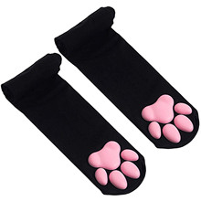 New Cat Paw Socks for Women Girls Kawaii 3D Cat Claw Toe Beanies Cute Gift Lolita PawPads Cosplay Cat Paw Pad Thigh High Socks
