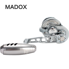 Madox Lento Jigging Bobina di Pe3 # 400 m Max 25kg 11BB Ad Alta Velocità G Rapporto di Trascinamento 6.3: 1 400g Offshore Barca Da Pesca Bobina di Pesca A Traina Bobina