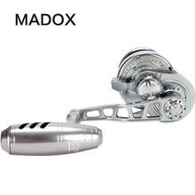 Madox 遅いジギングリール Pe3 # 400 メートル最大ドラッグ 25 キロ 11BB 高速 G 比 6.3: 1 400 グラムオフショア船釣り用リールトローリングリール