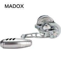 Madox dévidoir lent Pe3 #-400 m traînée Max 25kg 11BB haute vitesse g-ratio 6.3: 1 400G moulinet de pêche en mer moulinet de pêche à la traîne