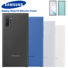 Samsung Original Silicone Cover Phone Case For Galaxy Note 10 Note10 NoteX Plus Soft Shockproof Shell