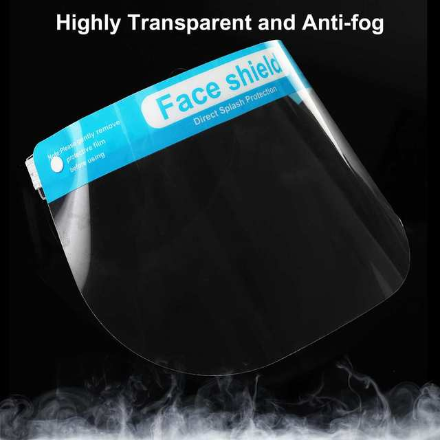 5/10pcs Children Kids Full Face Shield Mask Protective Visor Face Mask Plastic Anti Splash Anti saliva Dustproof Full Face Cover 4