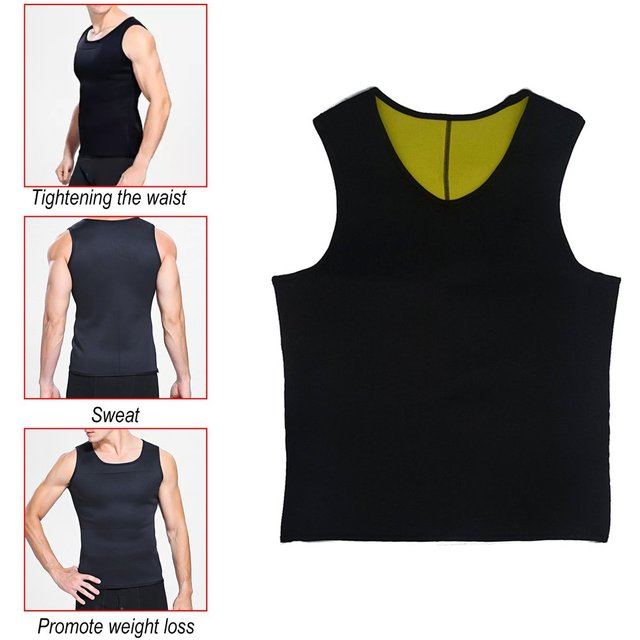 Sweat Sauna Body Shaper Men Slimming Vest Thermo Neoprene Trainer Sliming Waist Belt Durable And Comfortable Weight Loss Vest 3