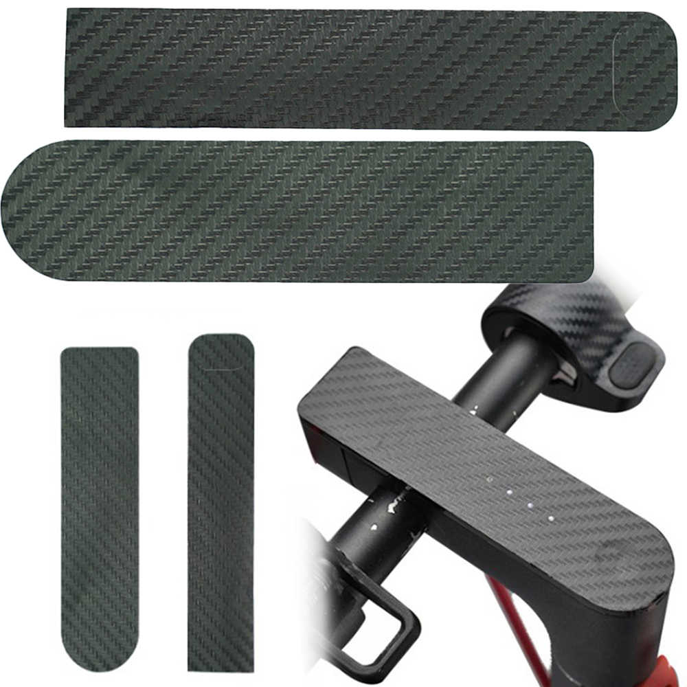 2Pcs Carbon Faser Aufkleber Anzeige Zentrum Bedienfeld Aufkleber Für Xiaomi M365/Pro