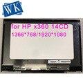 Montaje del digitalizador de cristal de la pantalla táctil de la pantalla LCD de 14,0