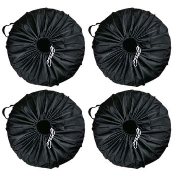 Universal Premium 4pcs Spare Tire Cover Case Polyester Car Tires Storage Bag Auto Tyre Wheel Protector Waterproof
