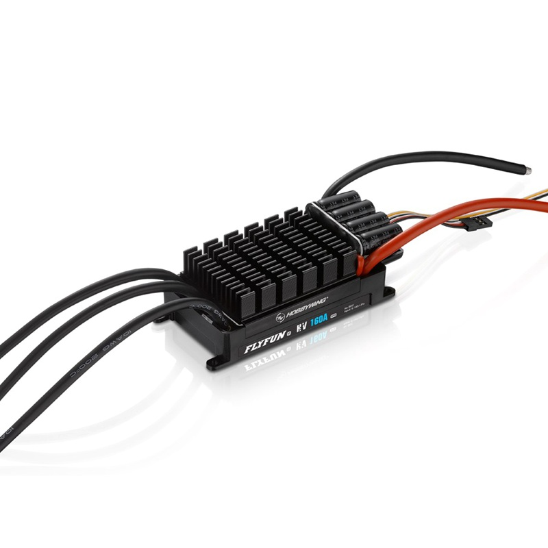 Hobbywing FLYFUN 160A <font><b>HV</b></font> OPTO V5 <font><b>ESC</b></font> high voltage 6-14S LiPo for RC 700 800 size aircraft image