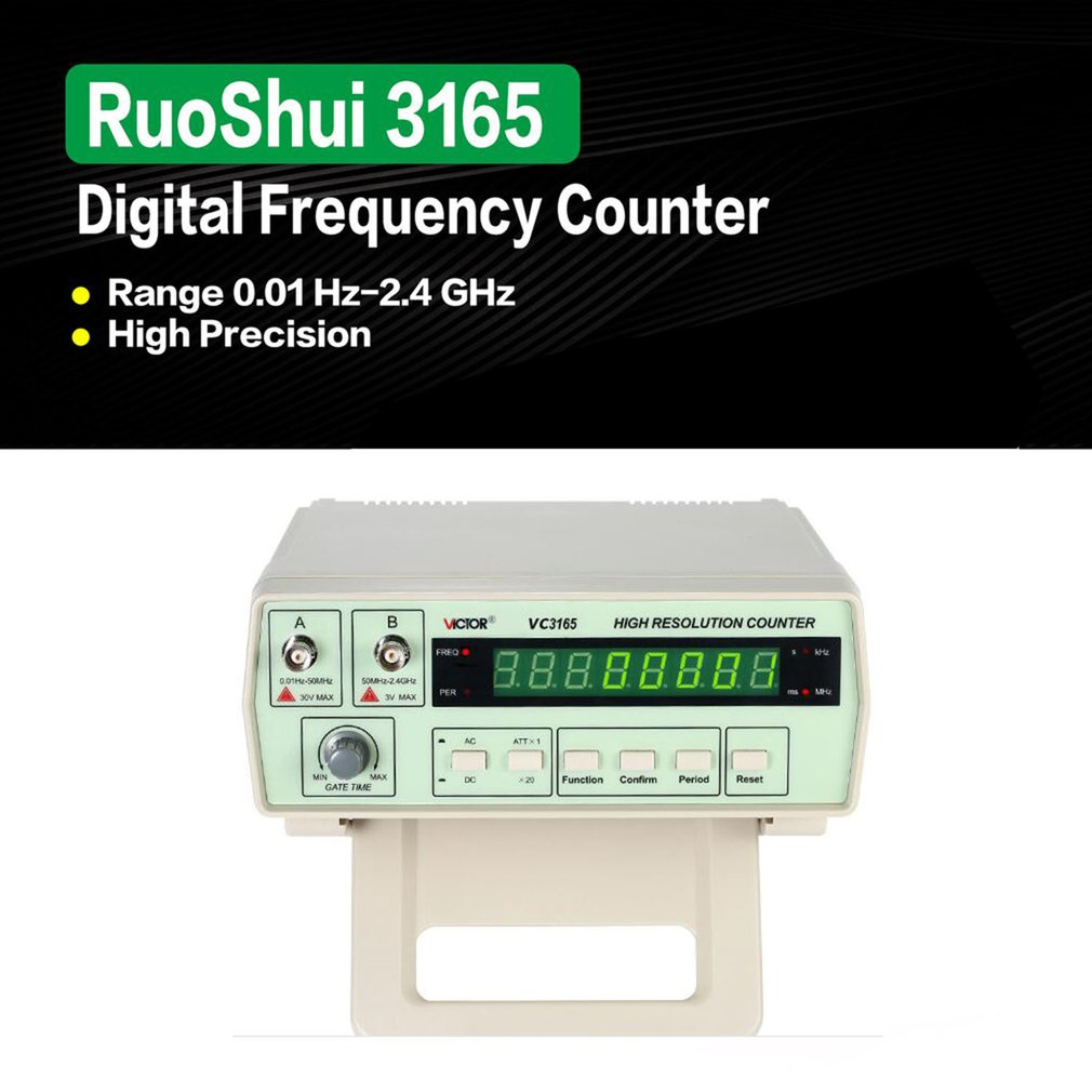3165 Digital High Precision Radio Frequency Counter Tester Meter 0.01Hz-2.4GHz T