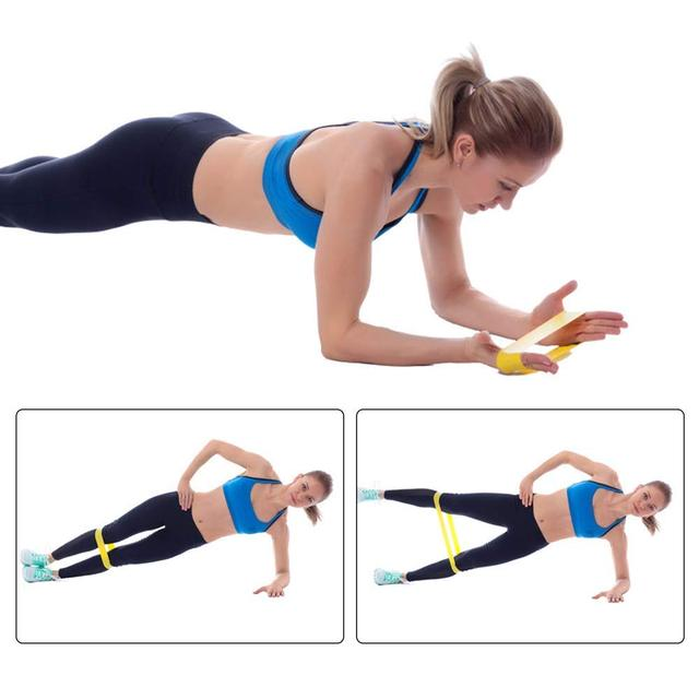 11 Pcs Elastic Resistance Bands Sets Training Workout Pull Rope Tubes Equipment 5