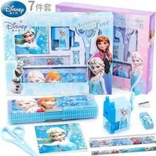 Conjunto de Papelaria Estudante Congelado Elsa Disney Caixa de Material Escolar Presente de Aniversário Presente do Dia das Crianças