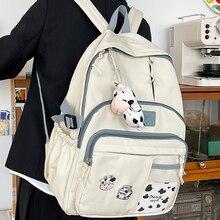 Woman Backpack School-Bag Travel Rucksack Teenage Girls Multi-Pocket Waterproof Student