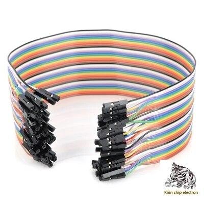10pcs / Lot Cable Length 30cm DuPont Bus To Bus Color Flat Cable 40p Double Head 1p1p