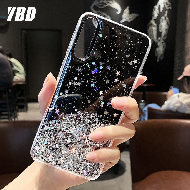 Bling Sequins Phone Case For Xiaomi Redmi Note 8 7 Pro 8T Phone Cover For Redmi K20 K30 8A Fundas Case