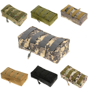 Tactical Utility Molle Pouch EDC Gadget Bag Webbing 600D Nylon Compact Water-resistant Multi-purpose Gear Hanging Accessory Bag