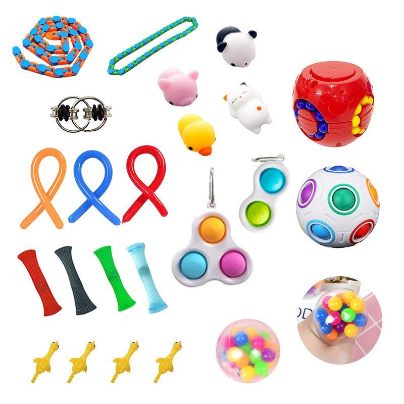 Fidget-Toys Gift-Pack Anti-Stress-Set Relief Sensory Squishy Popit Adults Stretchy Strings img4