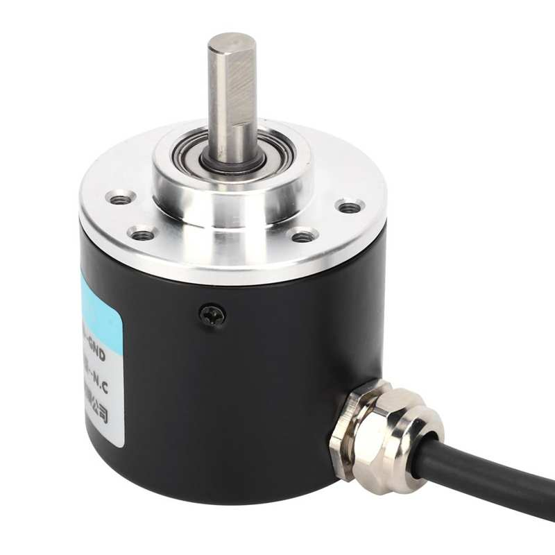 Office Automation 500Z Aluminium Plastic Photoelectric Encoder ABZ 3‑Phase DC5‑24V Solid Shaft for Office Automation Engineering Field for Accurate Working Environment