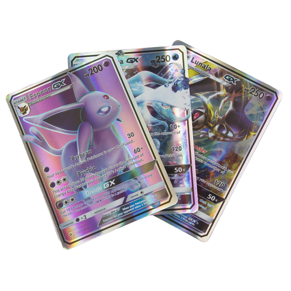 Pokemon cards 300 Pcs No repeat GX card Shining Cards Game TAG TEAM VMAX Battle Carte Trading Children Toy