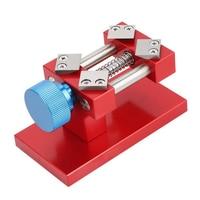 Universal Sculpture Nutcracker Clock Jaw Watch Repair Tool Clamp Mini DIY Adjustable Screw Table Craft Aluminium Alloy