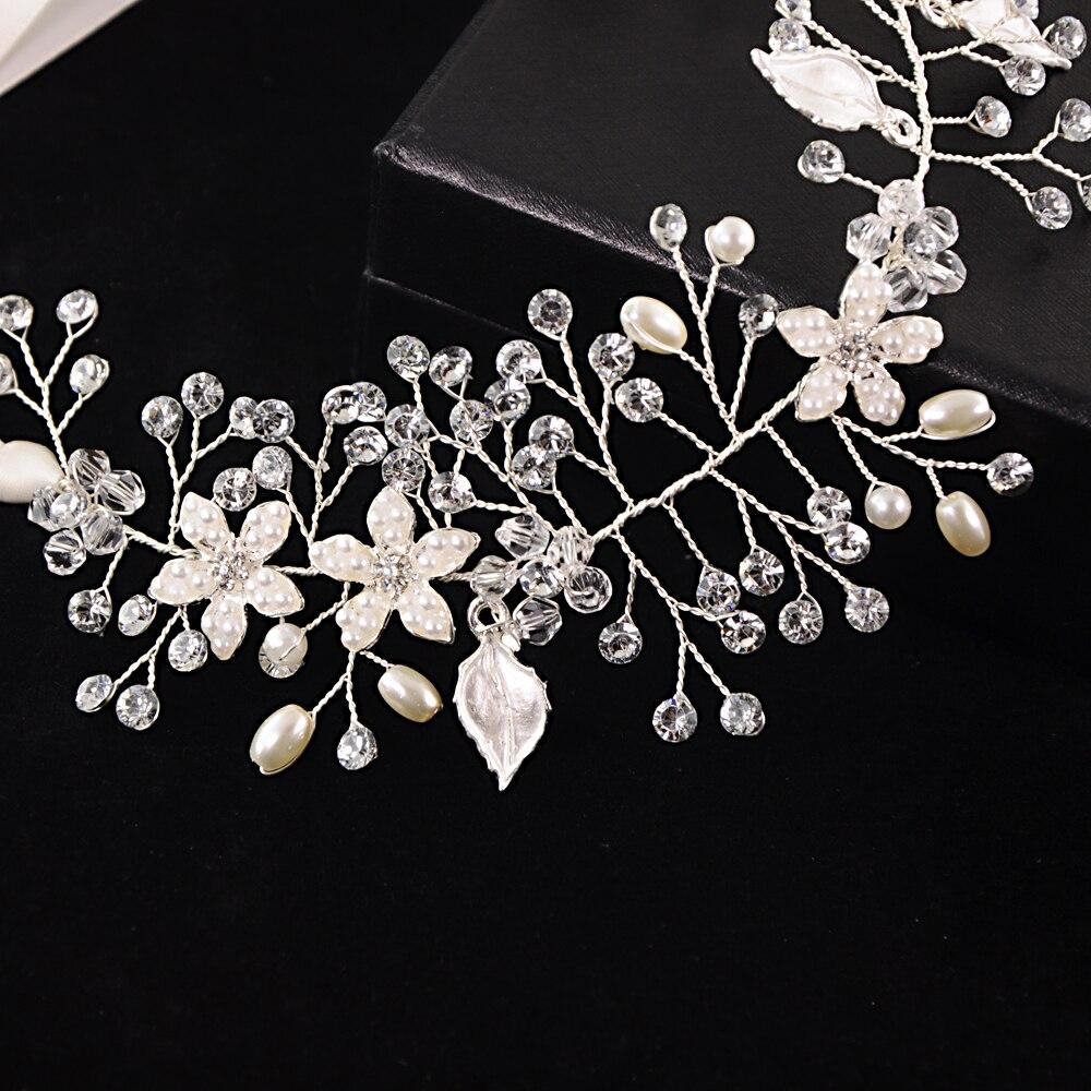 TRiXY H236 3 Colors Wedding Hair Vine Flower Leaf Wedding Headband Headpiece Bridal Hair Accessories Women Hair Jewelry