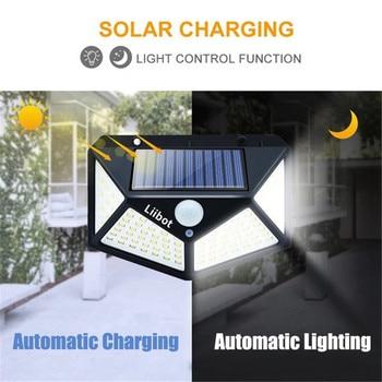 Potente luz LED Solar para decoración de jardín, lámpara alimentada por energía Solar, impermeable, con Sensor de movimiento PIR, para Calle 2