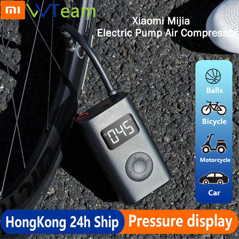 Xiaomi Mijia Portable Electric Pump Air Compressor Smart Digital Tire Sensor Mi Inflatable Treasure for Motorcycle Car Soccer image