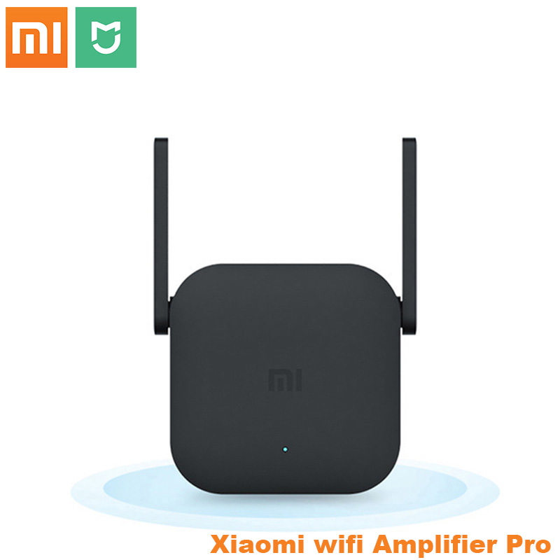 Original Xiaomi Wifi Amplifier Pro Router 300M 2.4G Network Expander Repeater Roteador 2 Power Antenna for Mi Router Home Office