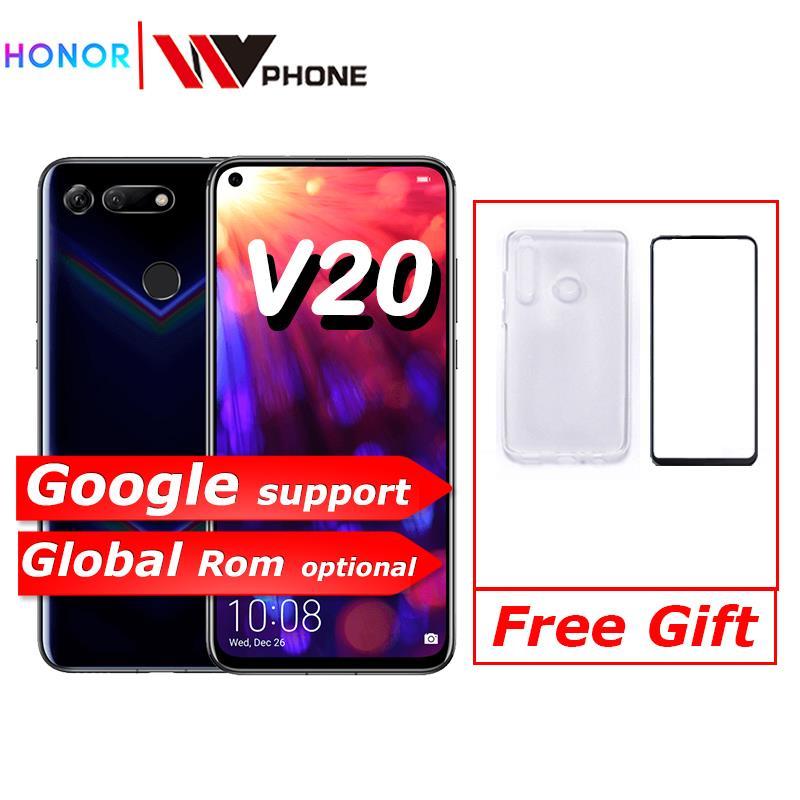 V20 honor honor Vista 20 Ligação Turbo Smartphone honor 9 V20 Android Suporte NFC carga rápida carregador de Celular