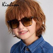 Очки солнцезащитные Детские квадратные в стиле ретро для мальчиков