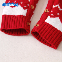 Baby Rompers Christmas Newborn Boys Girls Jumpsuits Costumes Cartoon Knitted